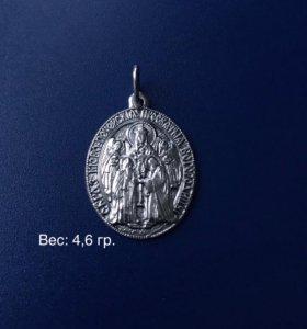 Икона серебряная