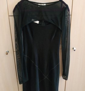 Платье s&s черное 38 рос.42