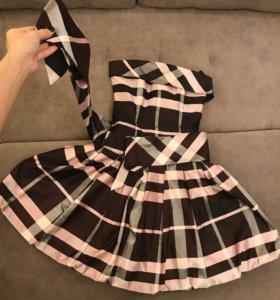 Платье вечернее коктейльное корсетное
