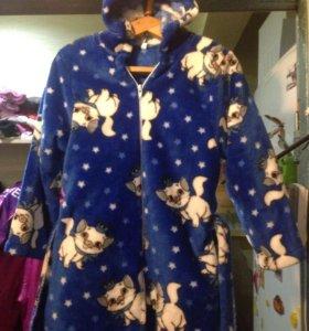 Нежнейший красивый халат с кошечками на 2-3 года