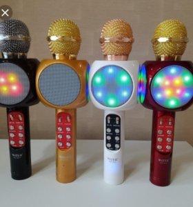 Беспроводной Bluetooth караоке микрофон.