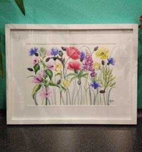 Картины с цветами. Ботаническая иллюстрация.