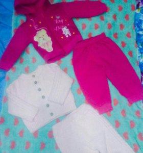 Тёплые костюмы для малышки