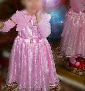 """Платье""""MON AMI"""".На рост 92-112см."""