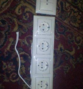 Розетки и выключатель