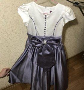 Продам детское атласное платье