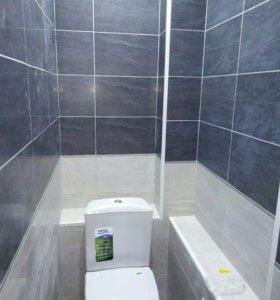 РЕМОНТ ванной под ключ и бетонная стяжка