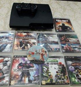 PlayStation 3 1tb + 10 дисков