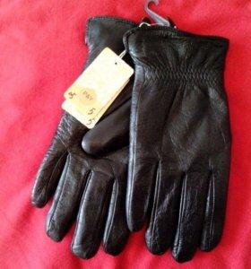 Зимние мужские перчатки( кожа)