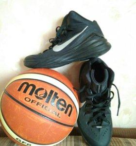 Баскетбольные кроссовки, размер  41