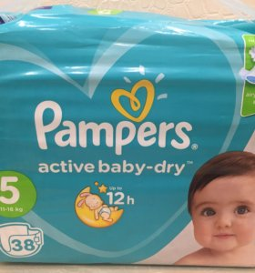 Памперсы Pampers active baby-dry 5, 38 шт.