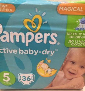 Памперсы Pampers active baby-dry 5, 36 шт.