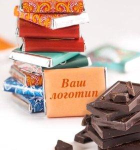 Шоколад 5г с логотипом или фото
