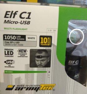Фонарь Armytek Elf C1 XP-L USB (белый свет)