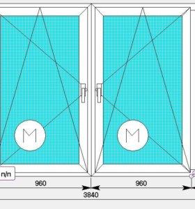 ПВХ окно Novotex-58 3840x1650 для лоджии. Завод