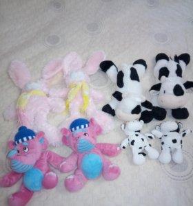 Мягкие игрушки-двойняшки