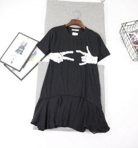 Новое платье-туника и футболка с акулой