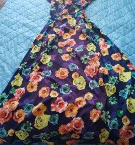 Летнее лёгкое длинное платье