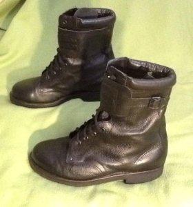 Ботинки армейские высокие кожаные
