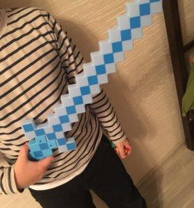Minecraft меч святящийся