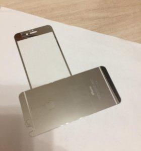 Зеркальное защитное стекло на iPhone 6/6S;6+; 7+