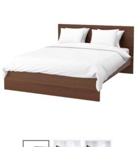 Кровать IKEA malm 160x200 с матрасом