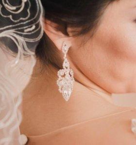 Серёжки свадебные