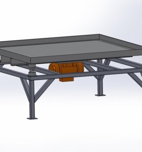 Вибростол для виброусадки плитки и прочих изделий