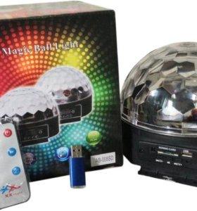 ДИСКО-ШАР MP3 LED MAGIC (6 ЦВЕТОВ)