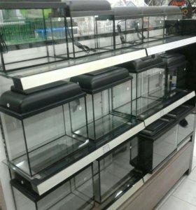 Новые недорогие аквариумы с крышкой