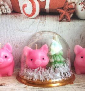 Свечи ручной работы - подарок на Новый год