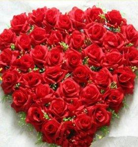 Сердце из роз оптом