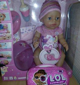 Новая Кукла Baby Born девочка