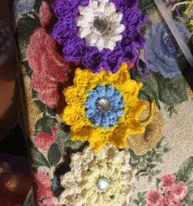 Вязаные цветочки