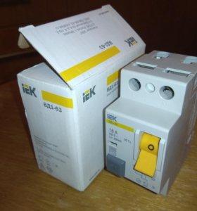 Выключатели дифференциального тока (УЗО) 16а 300мA