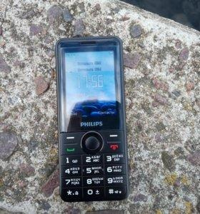 Philips E168 Dual sim. Black