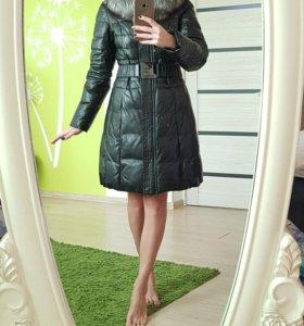 Продам пуховик-пальто из натуральной кожи