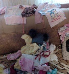 Пакет вещей на девочку от 6до 12 мес