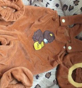 Новогодний костюм мишки мальчика 2-3 года