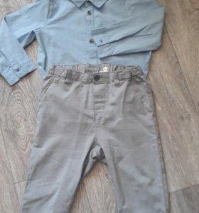 Рубашка+брюки H&M,р-р 92