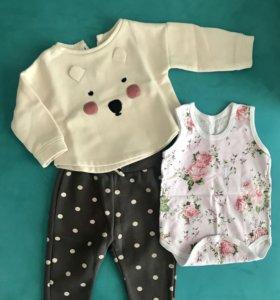 Комплект одежды Zara Baby до 12 мес