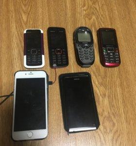 Телефоны разных моделей и производителей