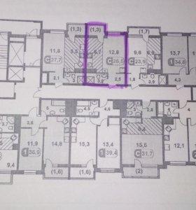 Квартира, студия, 26.5 м²