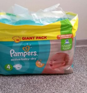 Pampers Active Baby 4 (9-14 кг) 90 шт