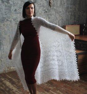 Оренбургский пуховый платок (Плотный и пушистый)