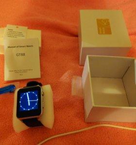 Smart watch,смарт часы Silver,серебряные GT88