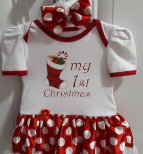 Платье - боди для маленькой принцессы