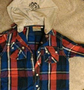 Модная рубашка х/б на кнопка