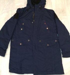 Куртка офисная (синяя) демисезонная