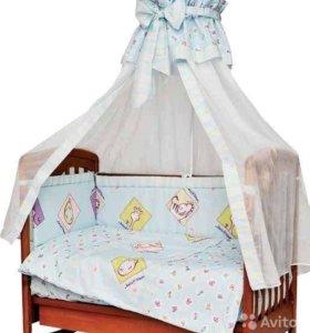 """Комплект в кроватку Мама Шила """"Лимпопо""""."""